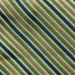 Calvin Klein Men's Green Regimental Pattern Tie